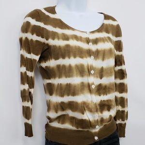 White + Warren Button Up Sweater Size Small